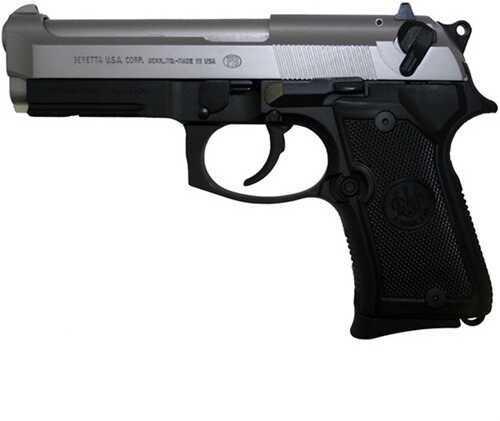 "Pistol Beretta 92FS Compact 2-Tone 9mm Luger 4.25"" Barrel 13 Rounds"