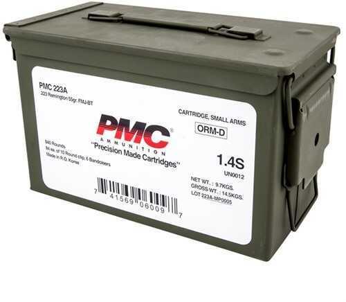 PMC 223 Rem FMJBT 55gr Can of 840 Rounds Total Ammunition Battle Packs Bulk 223AMB