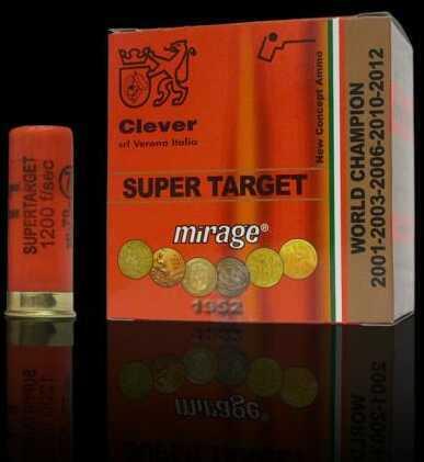 Clever Mirage Super Target T1 12Ga Sporting 1 1/8Oz #7.5 250 Rounds Of Shotshells