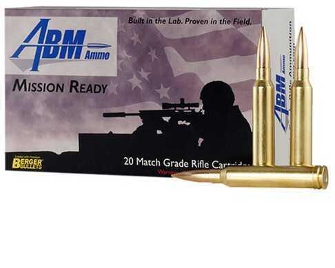 Abm Ammo Mission Ready 300 Winchester Magnum 185Gr Berger Match Juggernaut 20/Box (20 Rounds Per Box)