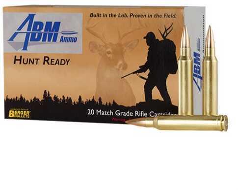 Abm Ammo Hunt Ready 300 Winchester Magnum 168 Grain Berger Match Classic Hunter Ammunition, 20 Rounds Per