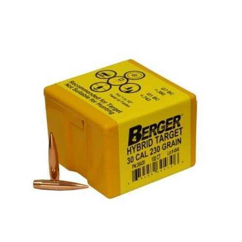 Berger Bullets Berger 230 Grain Hybrid Target 30 Cal Reloading Component Bullet, 100 Per Box