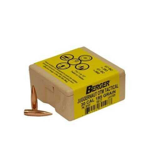 Berger Bullets Berger Tactical 30 Caliber 185 Grain Juggernaut Open Tip Match Reloading Bullets, 100 Per Box Md: BB