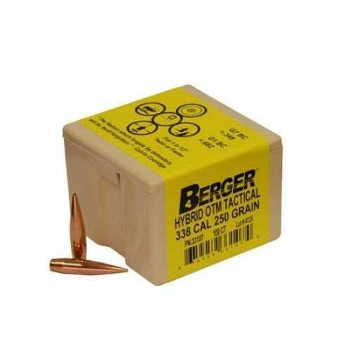 Berger Bullets Berger Tactical 338 Caliber 250 Grain Hybrid Open Tip Match Reloading Bullets, 100 Per Box Md: BB331