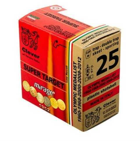 Clever Super Target Featherlite 12 Gauge 2.75 Inch 1 Ounce #8 Shot Shotshells, 250 Rounds Per Case