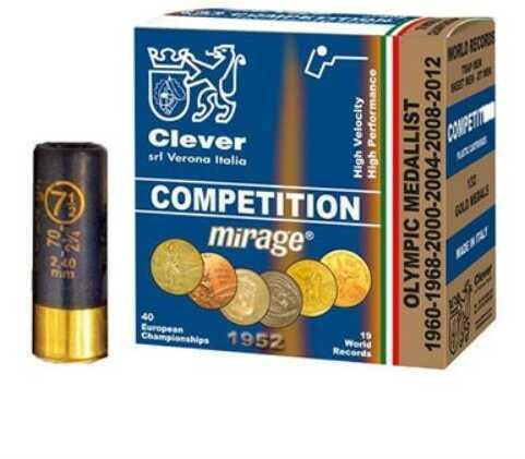 Clever Mirage T2 Competition 12 Gauge 2-3/4 Dram 1 Ounce #8 Shot Shotshells, 250 Rounds Per Case