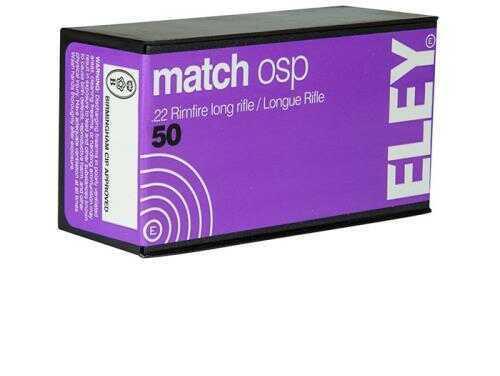 Eley Ammunition Eley Match OSP, 22lr, RN, 40gr, 50 Rounds /Box
