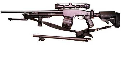 """Black Aces Tactical SSP 12 Gauge Shotgun 24"""" Slug Barrel/18.5"""" Smooth Barrel Black"""