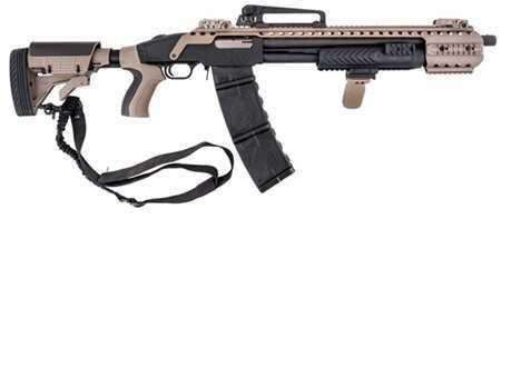 Black Aces Tactical Black And Tan 12 Gauge Shotgun 18.5'' Barrel