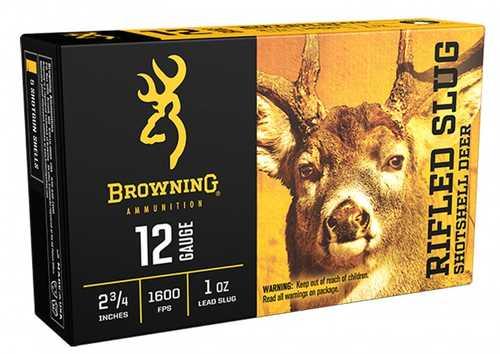 """Browning BXS Deer Slug Ammunition 12 Gauge 2-3/4"""" 1 oz Copper Sabot Slug Lead-Free"""