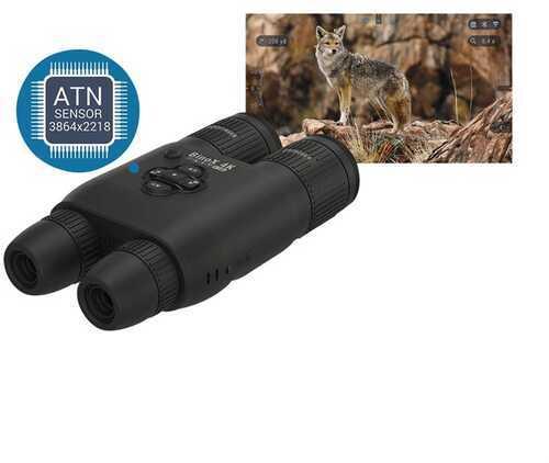 ATN BinoX-4K 4-16X D/N Binoculars Smart Ultra HD Day/Night Binoculars w/ Laser Rangefinder