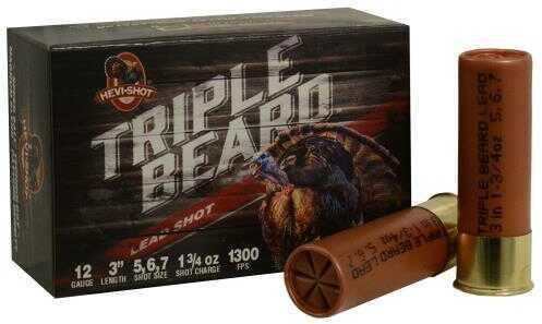Hevi-Shot Triple Beard Turkey 12 Gauge 3 Inch 1.75 Ounce #5, #6, & #7 Shotshells, 10 Per Box Md: 93567