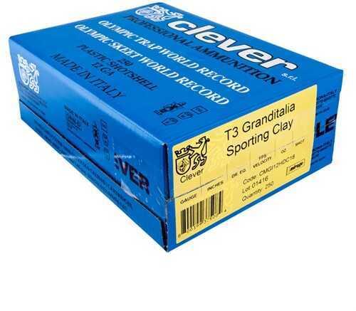 Clever Mirage Grand Italia T3 12 Gauge 7/8 Ounce #7.5, 3.25 Dram Antimonium 6% Shotshells Md: CMGI12It7875