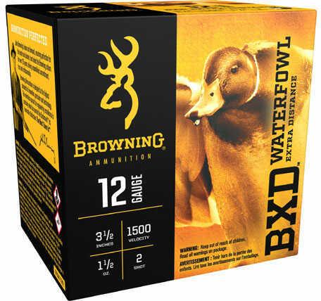 "Browning BXD Waterfowl Ammunition 12 Gauge 3-1/2"" 1-1/2 oz #2 Steel Shot Box/25"