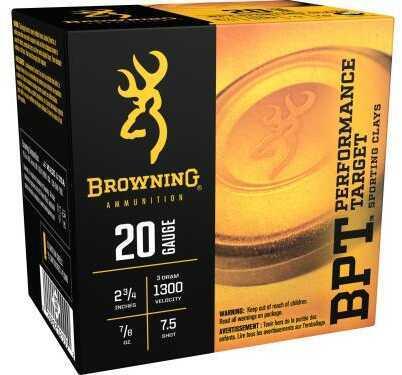 Browning 20 Gauge 2.75 Inch 7/8 Ounce Sporting #7.5 Shotshells, 25 Per Box Md: B193632027