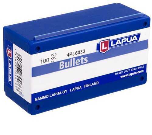 Lapua 224 Caliber 55 Grain Full Metal Jacket Reloading Component Bullets, 100 Per Box