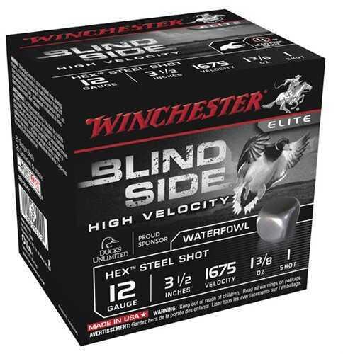 Winchester Blind Side HV 12Ga 3.5'' 1-3/8 Oz #1 25/Bx