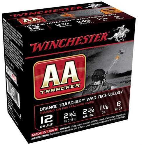 Winchester AA Traacker Orange Wad 12Ga 2.75'' #8 1-1/8Oz 25/Bx