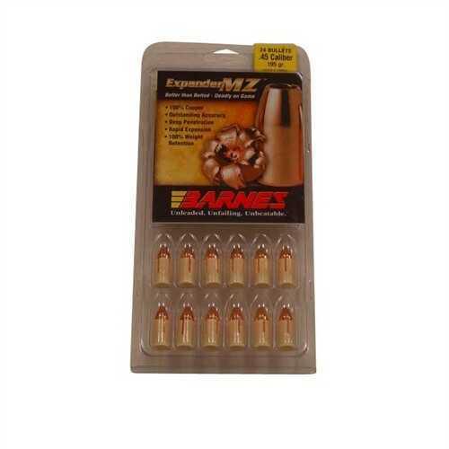 Barnes Bullets 45 Caliber Expander MZ Bullets Expander MZ, 195 Grain (Per 24) 40052