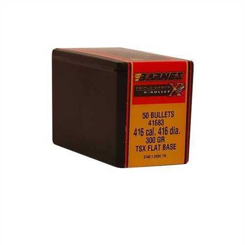 "Barnes Bullets 416 Caliber .416"" 300gr TSX Flat Base (Per 50) 41683"