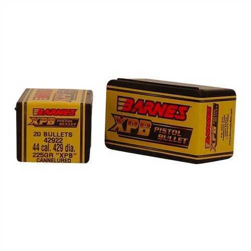 Barnes Bullets 44 Caliber 225 Grain X Pistol Bullet (Per 20) 42922