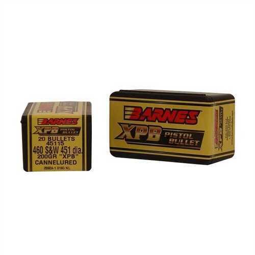 Barnes Bullets 460 Caliber 200 Grain X Pistol Bullet (Per 20) 45115