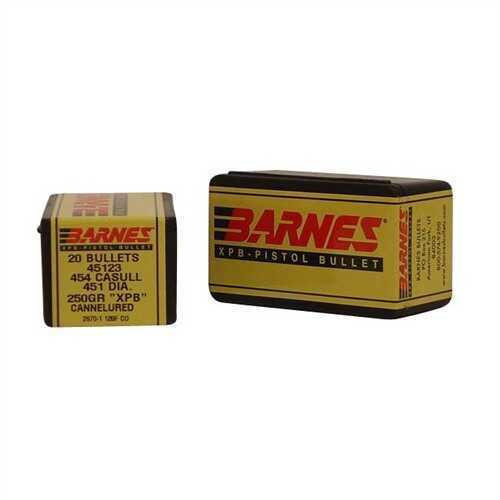 Barnes Bullets 454 Casull 250gr XPB/20 250 Grain X Pistol Bullet (Per 20) 45123