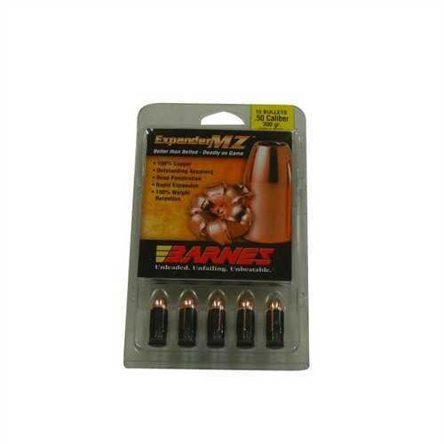 Barnes Bullets 50 Caliber Bullets 300 Grain Expander Muzzleloader (Per 15) 45131
