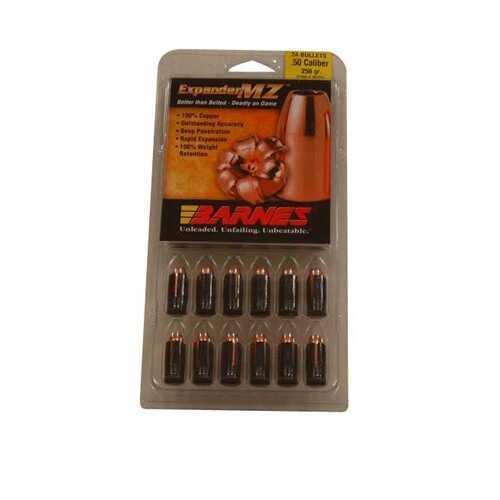 Barnes Bullets 50 Caliber Bullets 250 Grain Expander Muzzleloader (Per 24) 45152