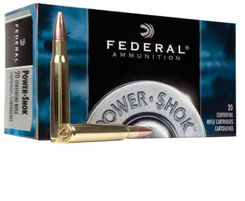Federal Cartridge 7mm Mauser 7mm Mauser, 175gr, Power Shok Soft Point Round Nose, (Per 20) 7A