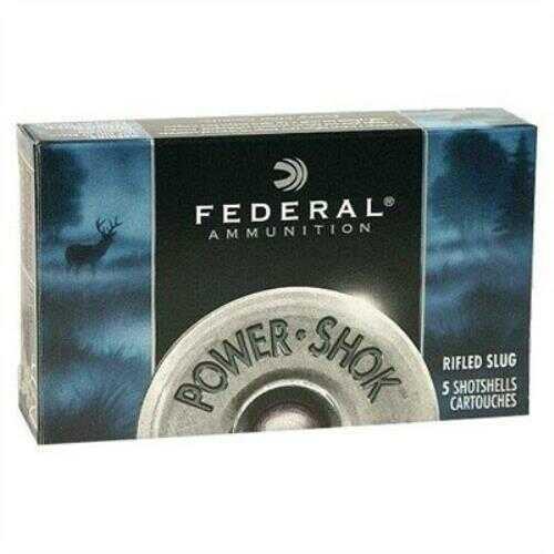 "Federal 12 Gauge Power-Shok Buckshot 3"" Mag Dram 15 Pellets 00 Buck Per 5 Shotshells Md: F13100"