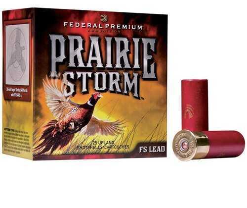 "Federal Cartridge Prairie Storm Ammunition 12Ga 2.75"" 1.oz 6-Shot PF154FS6"