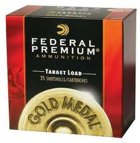 Federal Cartridge Federal Gold Medal Plastic 12Ga 2.75'' 1-1/8oz #8 25/Box (25 rounds Per Box) Ammo