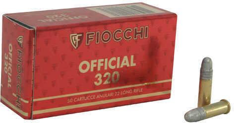 Fiocchi Ammo Fiocchi Exacta Rimfire 22 Long Rifle 40 Grain Lead Round Nose Ammunition, 50 Rounds Per Box Md: FI22