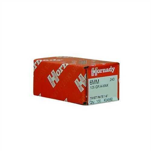 Hornady 6mm Bullets 105 Gr A-Max (Per 100) 24562