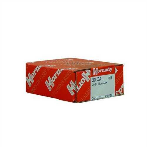 Hornady 30 Caliber Bullets 208 Gr A-Max (Per 100) 30732