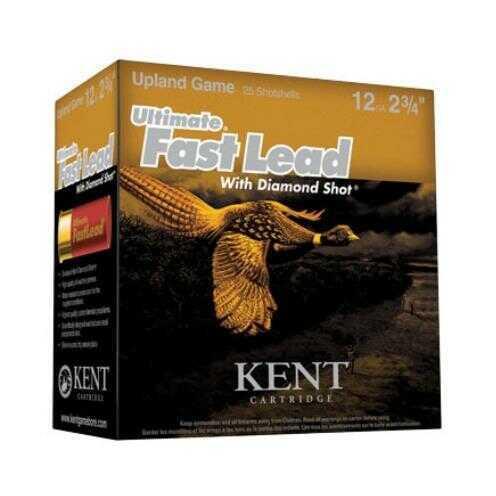 Kent Cartridges Kent Ultimate Fast Lead 12 Gauge 2.75 Inch 4.25 Dram 1475 FPS 1-3/8 Ounce #4 Shot Shotshells, 25 Per