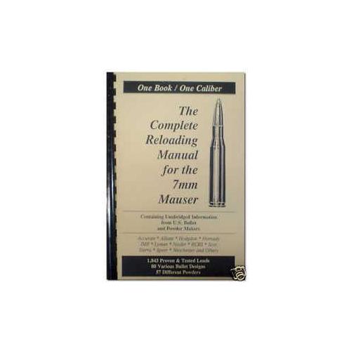 Loadbooks USA 7 X 57 (7mm) Mauser Reloading Manual