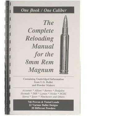Loadbooks USA Loadbooks Reloading Manual For 8mm Remington Magnum