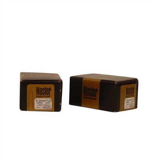 Nosler 6.5mm/264 Caliber 125 Gr Spitzer Partition (Per 50) 16320