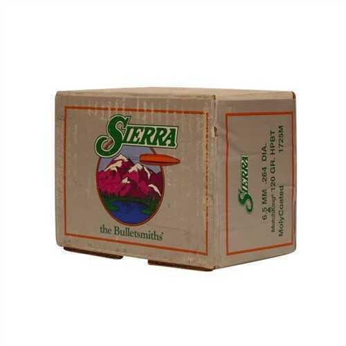 Sierra Bullet 6.5MM .264 120Gr HPBT Moly 500