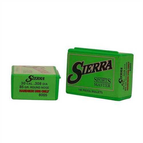 Sierra 30 Caliber 85 Gr RN (Per 100) 8005