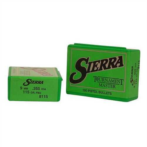 Sierra Bullets, 9mm 115gr FMJ - Brand New In Package