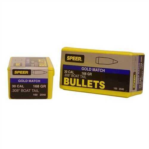 Speer 30 Caliber 168 Gr Match HP BT (Per 100) 2040