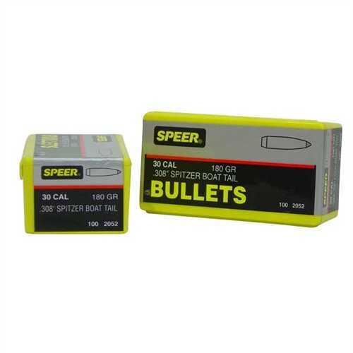 Speer 30 Caliber 180 Gr Spitzer SP BT (Per 100) 2052