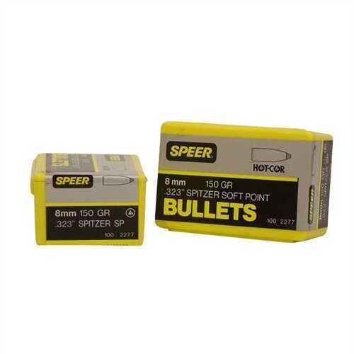 Speer 8mm 150 Grains Spitzer SP (Per 100) 2277