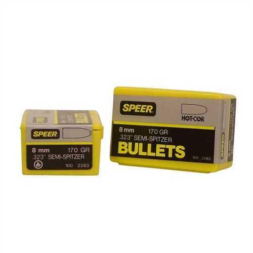 Speer 8mm 170 Gr Semi-Spitzer SP (Per 100) 2283