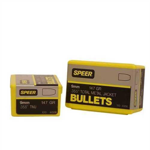 Speer Bullets, 9mm 147gr TMJ - Brand New In Package