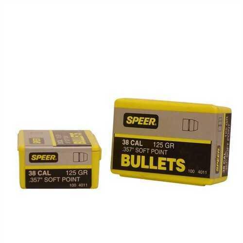 Speer 38/357 Caliber (Per 100) 125 Gr JSP 4011