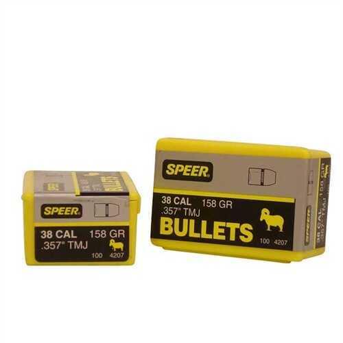 Speer 38/357 Caliber (Per 100) 158 Gr TMJ 4207